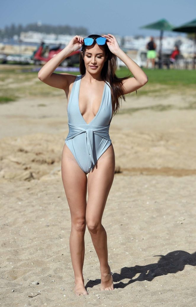 Chloe Goodman in Blue Swimsuit -11