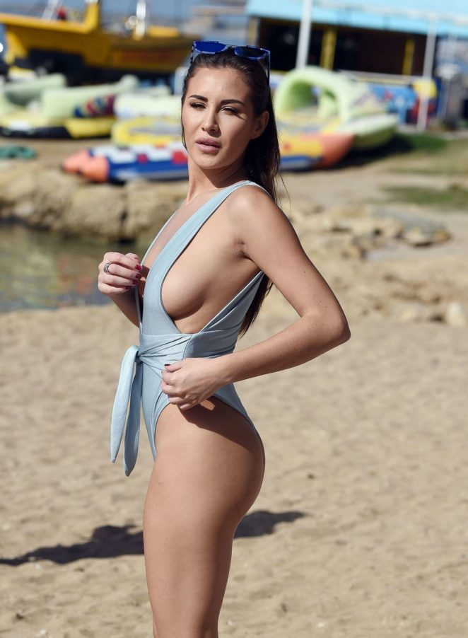 Chloe Goodman in Blue Swimsuit -19