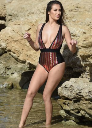 Chloe Goodman in Swimsuit on holiday in Cape Verde