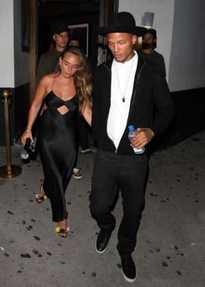 Chloe Green and Jeremy Meeks at Villa Lounge in West Hollywood