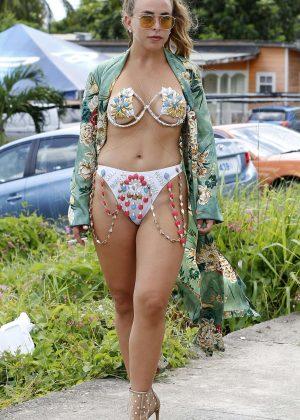 Chloe Green in Bikini and Jeremy Meeks in Barbados