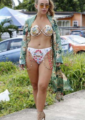 Chloe Green in Bikini at Carnival in Barbados
