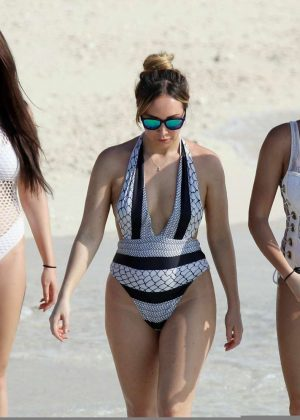 Chloe, Lauryn and Amelia Goodman in Swimsuit on Maldives