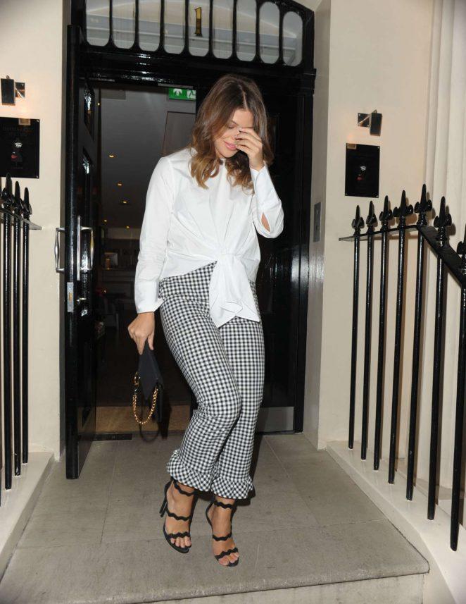 Chloe Lewis Leaves New Look pool party in London