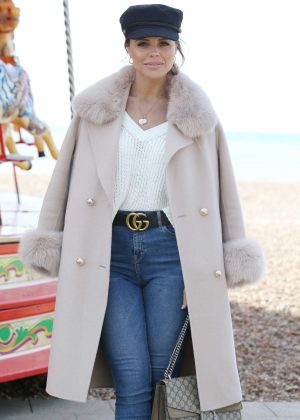 Chloe Lewis - 'The Only Way is Essex' TV Show Filming in Brighton