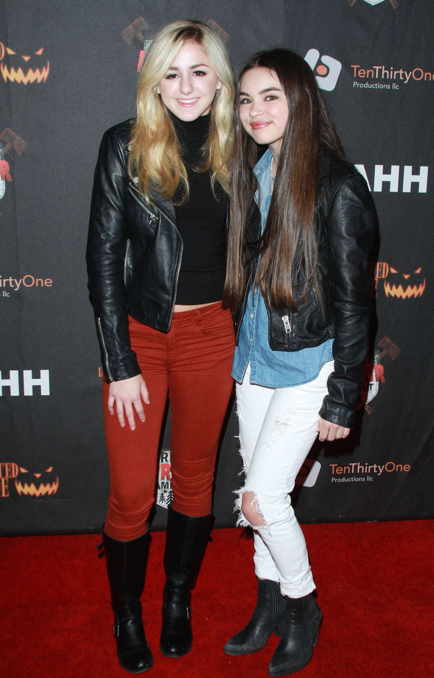 Chloe Lukasiak: Los Angeles Haunted Hayride Black Carpet Premiere Night -06