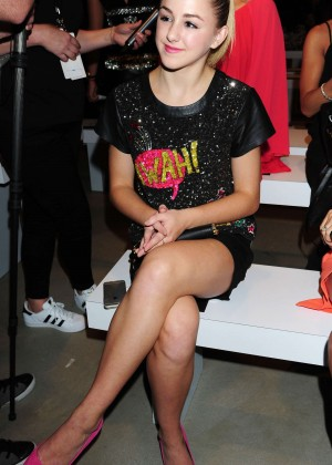 Chloe Lukasiak - Nicole Miller Fashion Show Spring 2016 NYFW in NYC