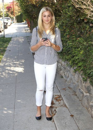 Chloe Lukasiak in Tight Jeans Out in LA