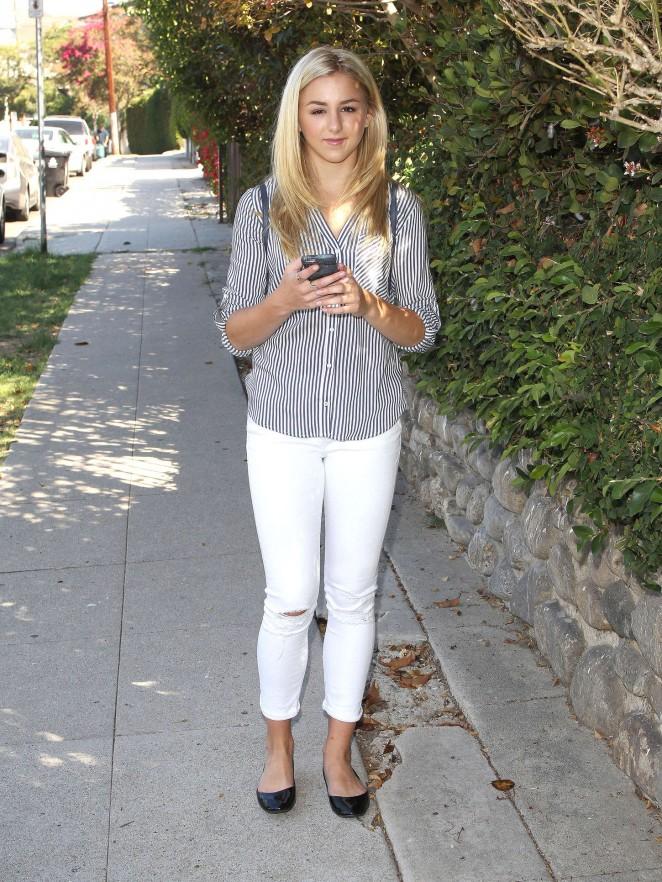 Chloe Lukasiak in Tight Jeans Out in LA