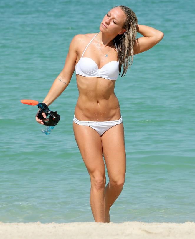 Chloe Madeley In White Bikini Paddleboarding 40 Gotceleb