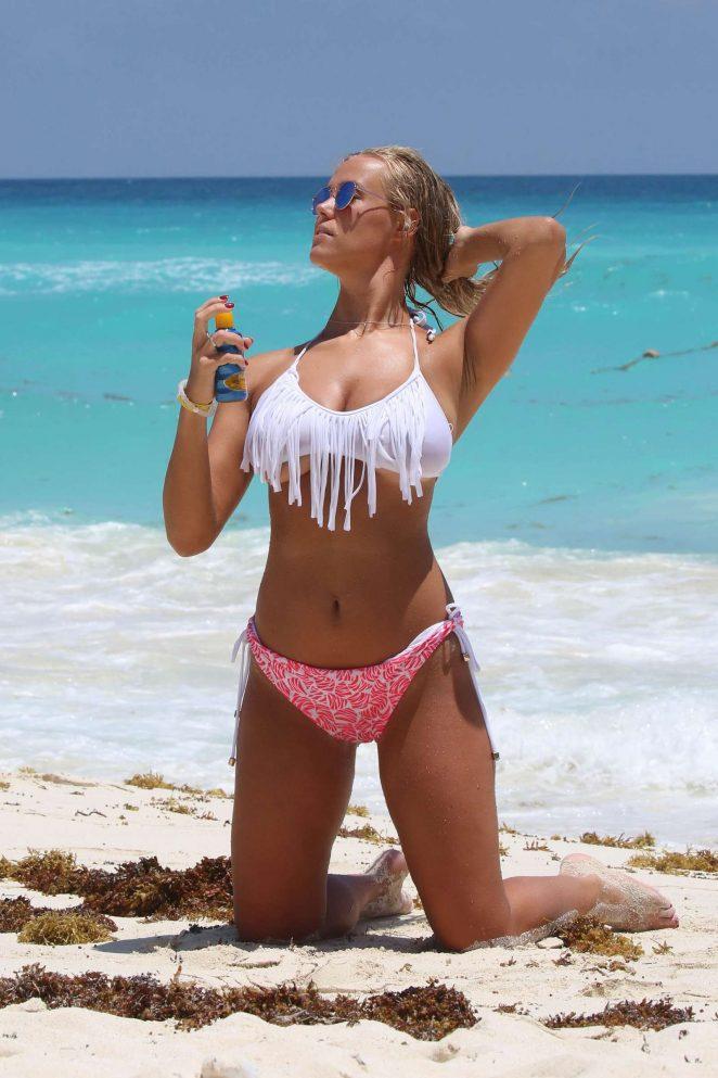 Chloe Meadows in Bikini on the beach in Cancun