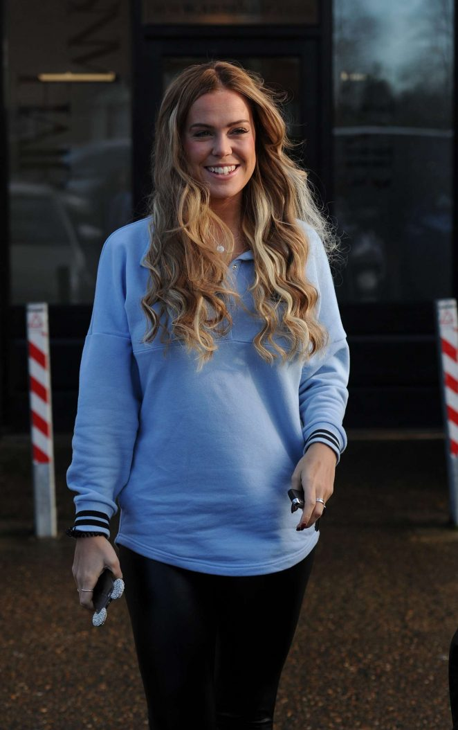 Chloe Meadows - Leaving hair salon SNM in London