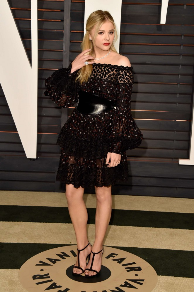 Chloe Moretz - 2015 Vanity Fair Oscar Party in Hollywood
