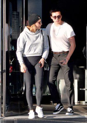 Chloe Moretz and Brooklyn Beckham - Leaving XIV Karot Jewelry store in Beverly Hills