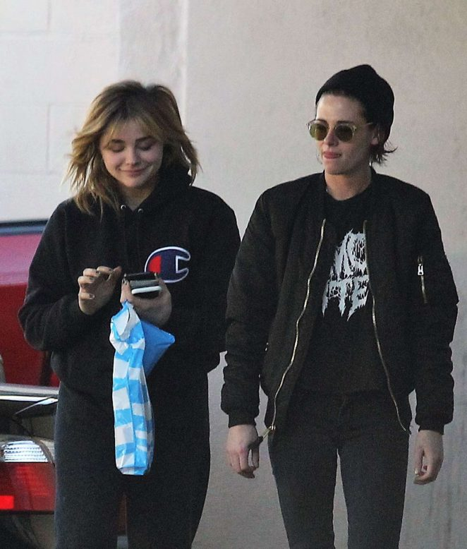 Chloe Moretz and Kristen Stewart Out in Los Feliz