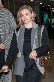 Chloe Moretz - Arrives at Charles de Gaulle Airport in Paris