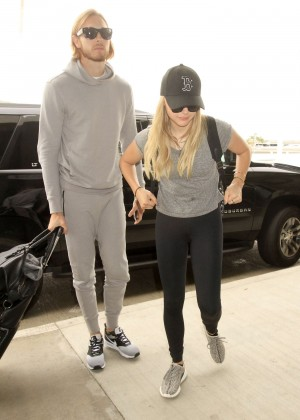 Chloe Moretz in Tights Arrives at Los Angeles International Airport