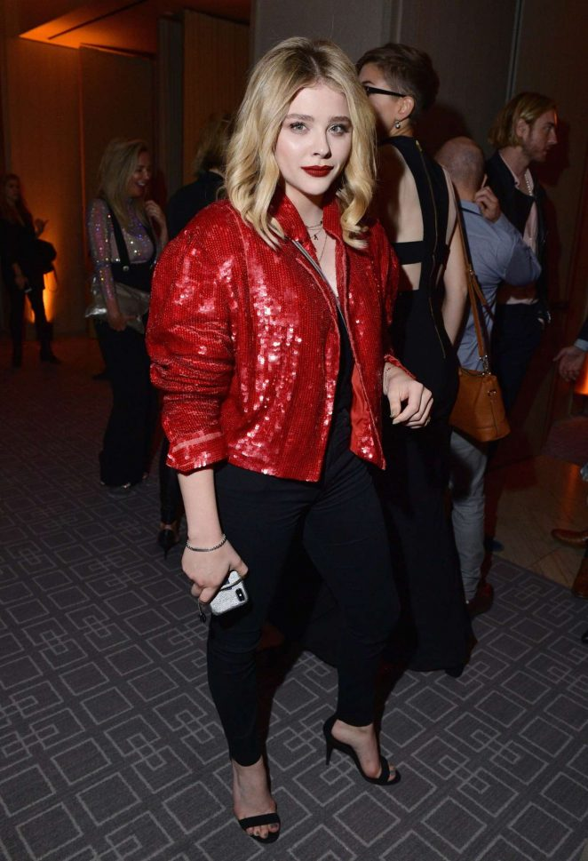Chloe Moretz - Arriving at InStyle's TIFF Party in Toronto