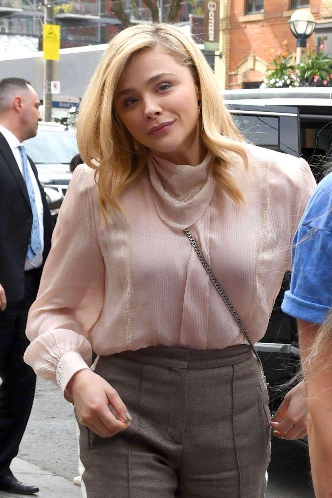 Chloe Moretz - Arriving at Toronto Film Festival in Toronto