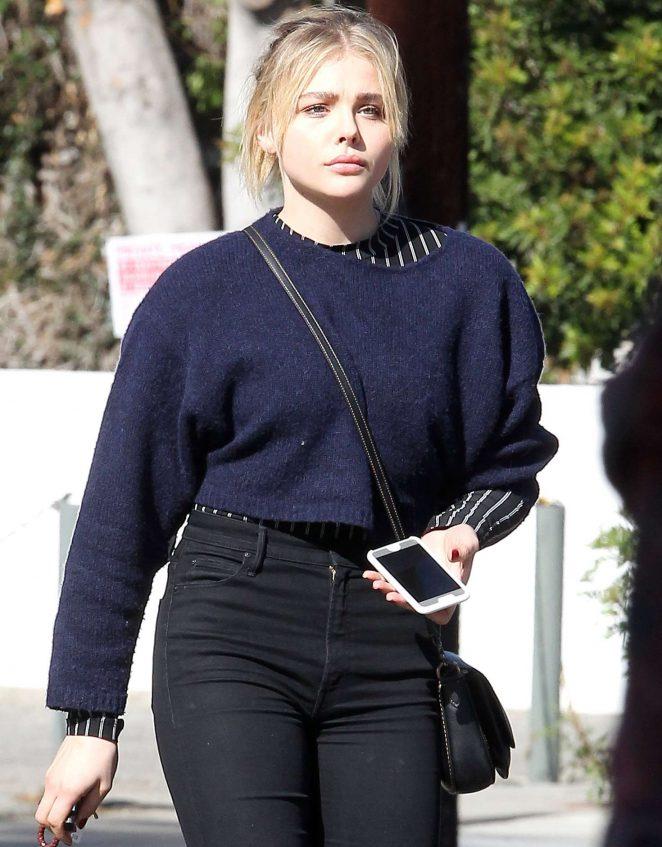 Chloe Moretz at a hair salon in Hollywood