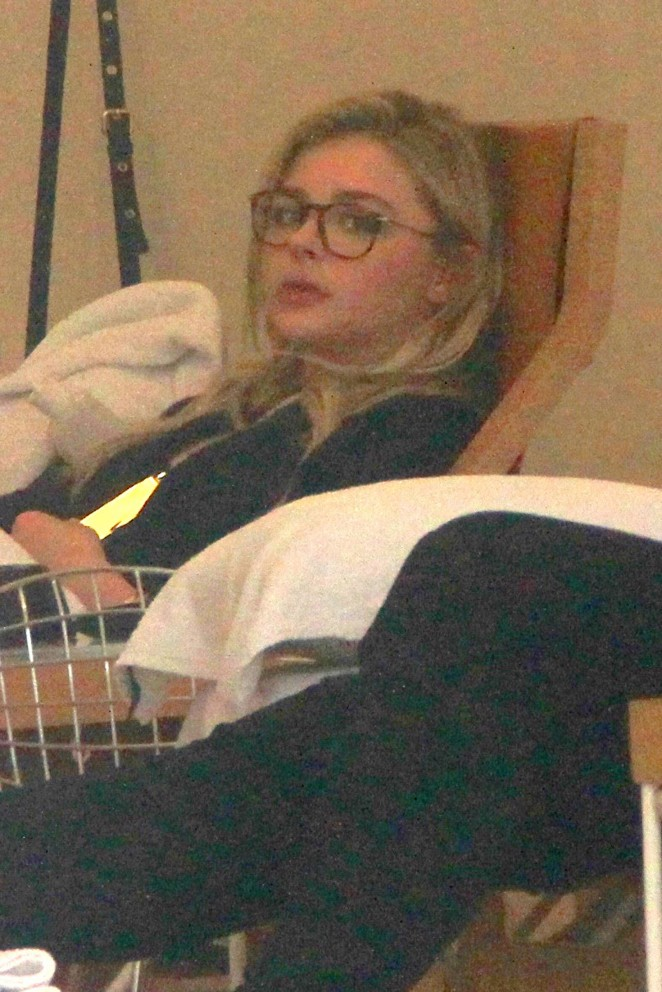 Chloe Moretz at a pedicure in Los Angeles