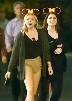 Chloe Moretz in Shorts at Disneyland in Anaheim