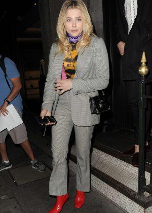 Chloe Moretz at Gymkhana restaurant in Mayfair