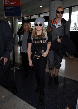 Chloe Moretz at LAX Airport -19