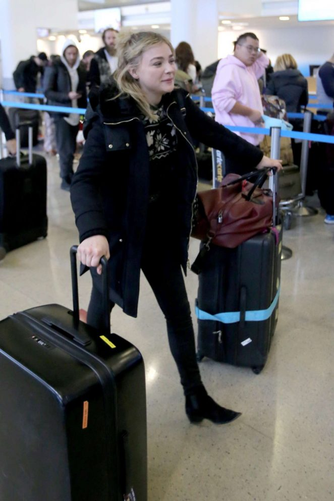 Chloe Moretz at LAX Airport in Los Angeles