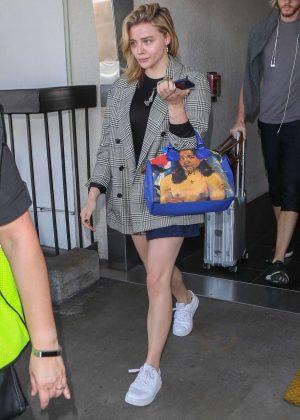 Chloe Moretz at LAX International Airport in Los Angeles