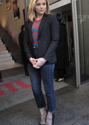 Chloe Moretz in Jeans at RTL Radio Station in Paris