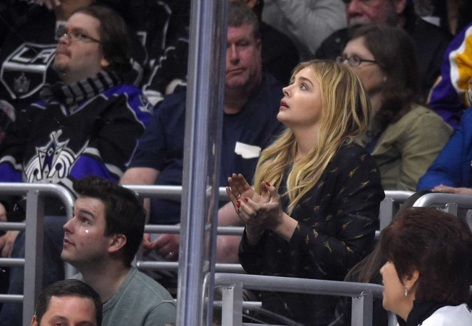 Chloe Moretz at the Kings Vs Avalanche Game in Los Angeles