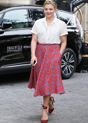 Chloe Moretz at the Shangri-La Hotel in Paris