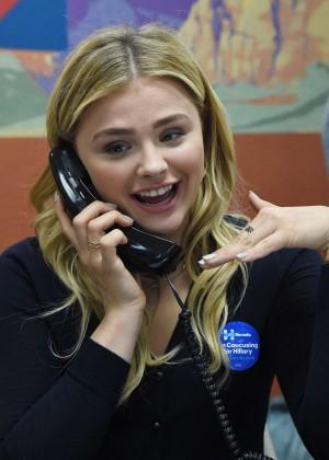 Chloe Moretz - Campaigns for Hillary Clinton in Las Vegas