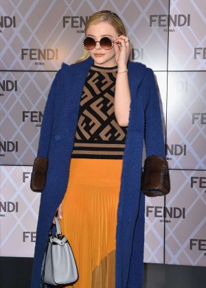 Chloe Moretz - Fendi Fashion Show 2018 in Milan