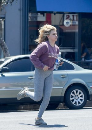 Chloe Moretz - Heading to Salon in Los Angeles