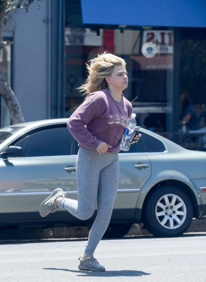 Chloe Moretz - Heading to Salon in Los Angeles