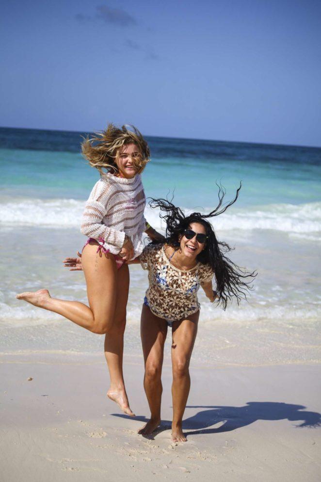 Chloe Moretz - In Bikini at a beach