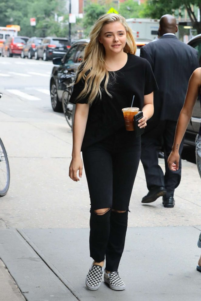 Chloe Moretz In Black Outfit Out In Nyc