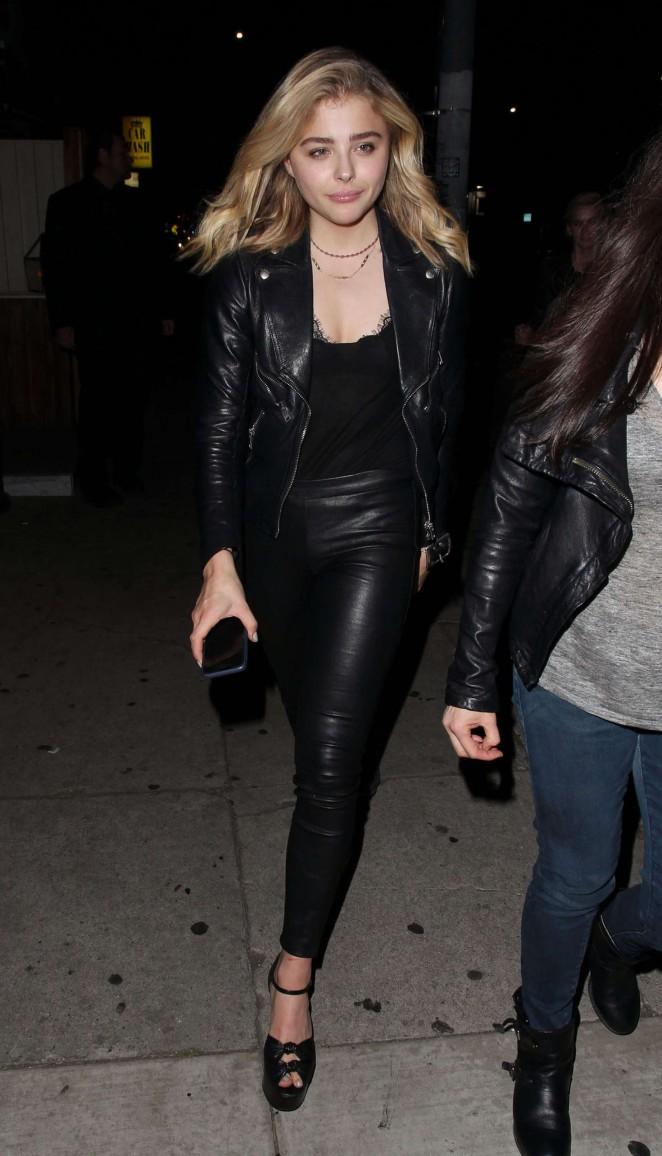 Chloe Moretz In Leather At Nice Guy 22 Gotceleb