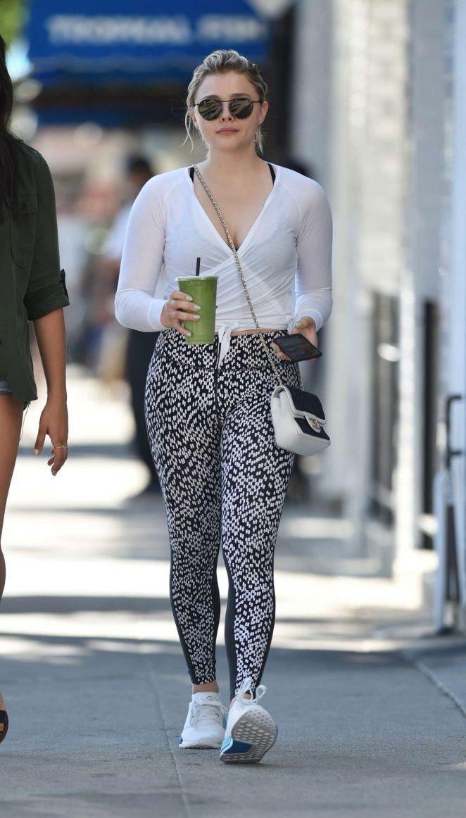 Chloe Moretz in Leggings out in LA