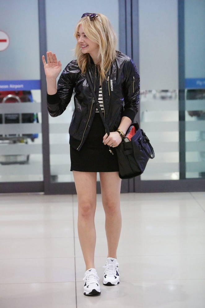 Chloe Moretz in Mini Skirt at Incheon Airport in South Korea