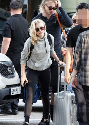 Chloe Moretz in Tights at Incheon Airport -02