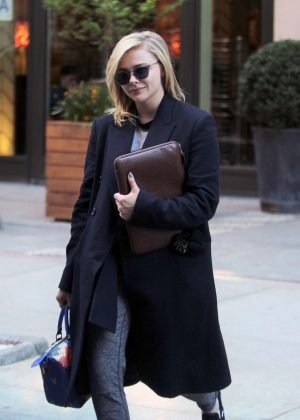 Chloe Moretz - Leaves a hotel in New York City