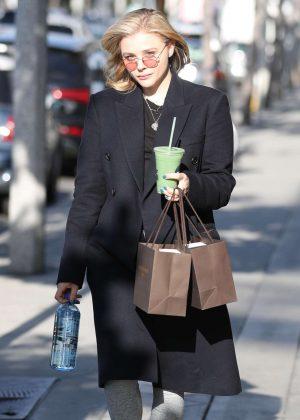 Chloe Moretz - Leaves Oliver Peoples in LA