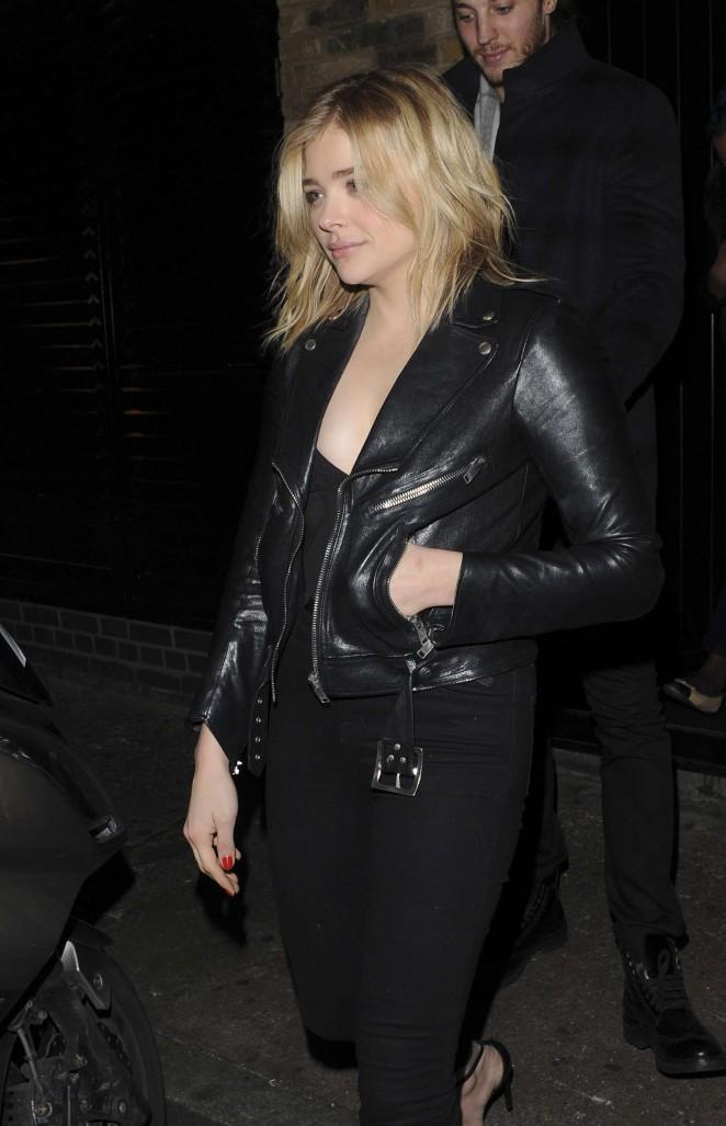 Chloe Moretz - Leaves the Chiltern Firehouse in London