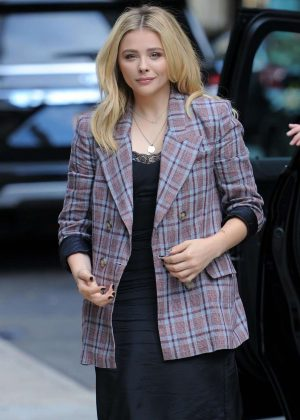 Chloe Moretz - Leaving a office building in New York City