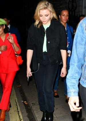 Chloe Moretz - Leaving Annabel's in London