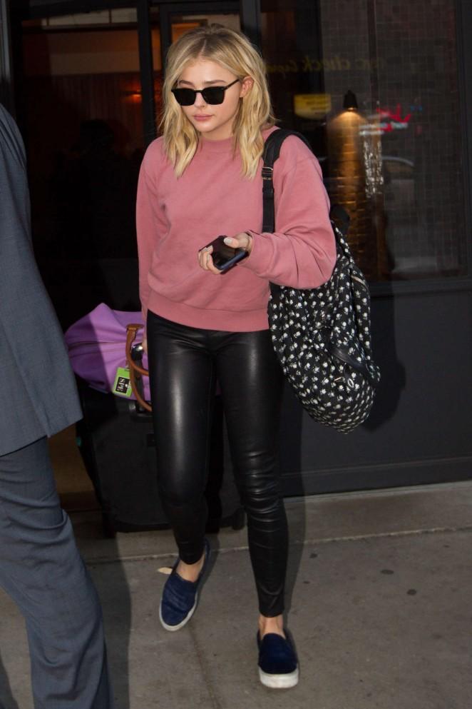 Chloe Moretz: Leaving her hotel -03