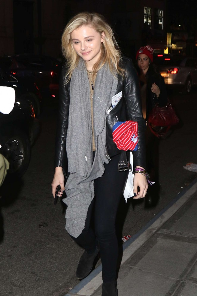 Chloe Moretz an Tights at Madison Square Garden -10